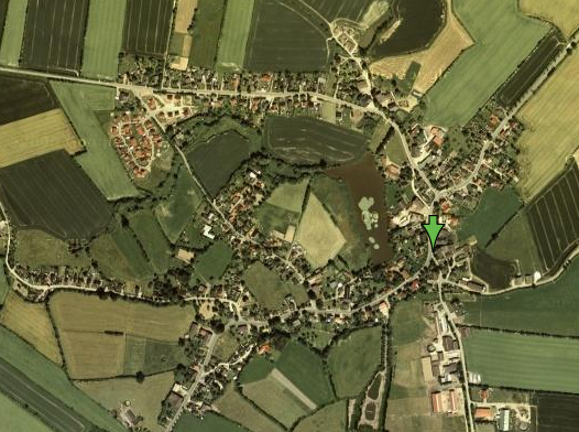 Satellitenfoto des Ortes Labenz