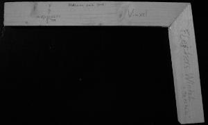 Leicht stumpfer Winkel aus Holz. Beschriftung: Fleischers Fachgeschäft, Präzision seit 2008, Vinxel, Fleischers Winkel, ≙ 98,857632°
